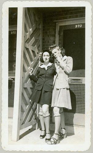 photo girls smoking  porch suit dress jacket