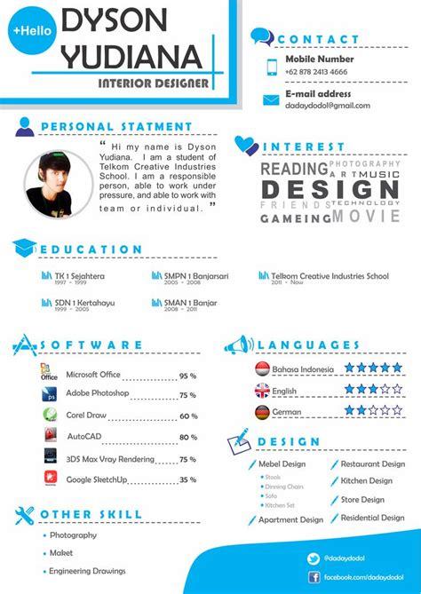 cv interior design portfolio leave exles