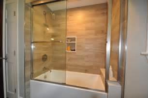 bathroom surround tile ideas plank tile tub surround contemporary bathroom boston by design 1 kitchen bath