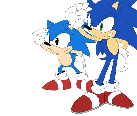 classic sonic in modern stages sonic generations classic and modern sonic by sonicthehedgesantos on deviantart