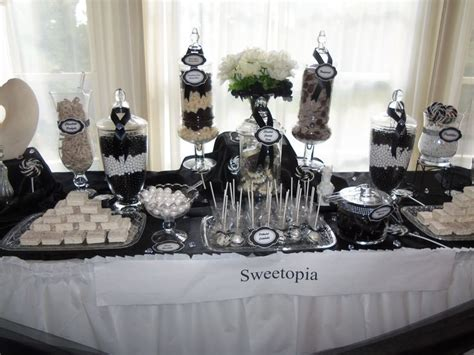 black and white candy table elegant black and white candy buffet candy buffet ideas