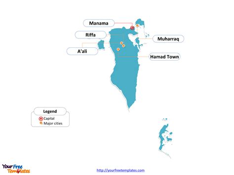 Free Bahrain Editable Map - Free PowerPoint Templates