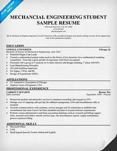 Resume format for mechanical engineering students pdf for Engineering student resume template