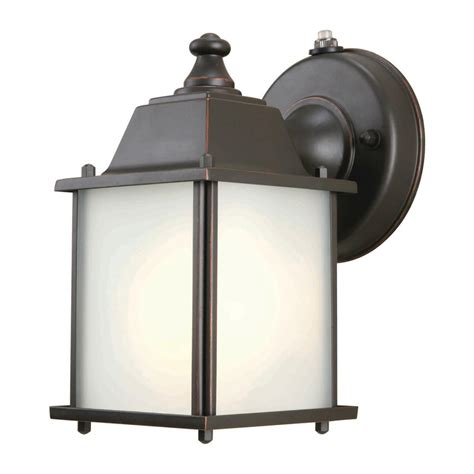 hton bay 1 light rubbed bronze outdoor dusk to