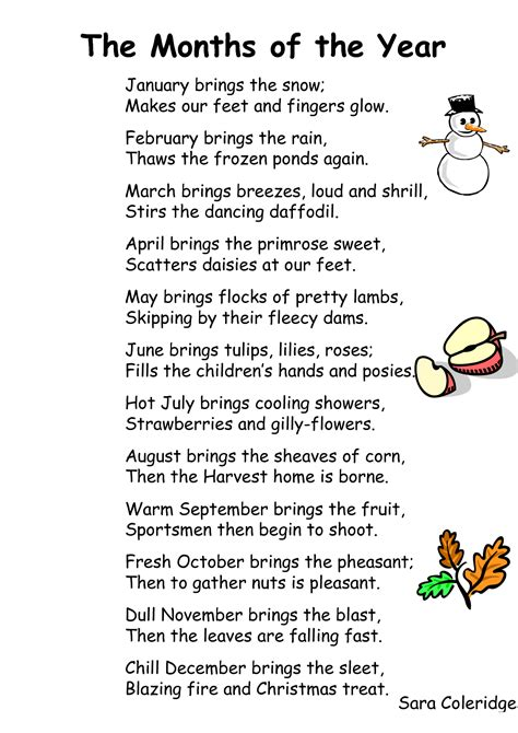poems for each month of the year on pinterest lyrics preschool songs and poem