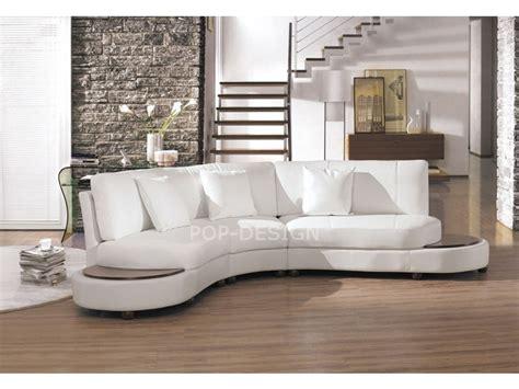 canape arrondi canapé design demi lune en cuir foggia pop design fr