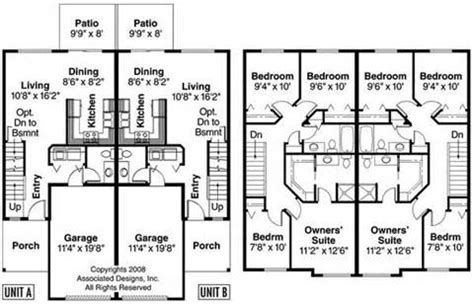 two story duplex floor plans two storey duplex house plans home design and style