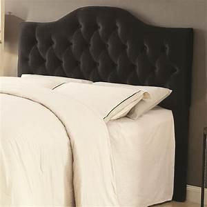 Upholstered KingCali King Headboard In Black Velvet