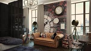 2 Industrial Apartment Interior Design That Will Inspiring