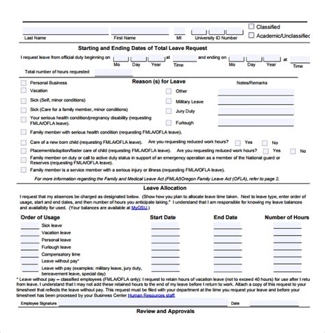 sample employee form   documents