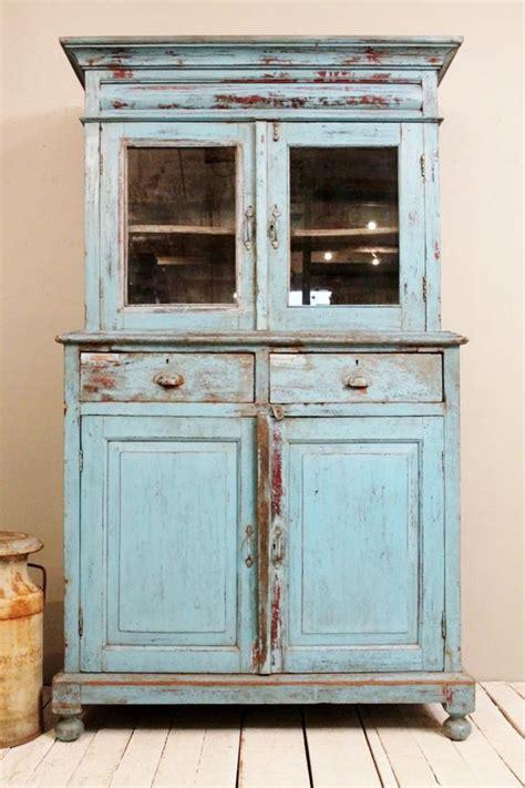 Antique Kitchen Cupboard Storage Cabinet Armoire Indian Blue