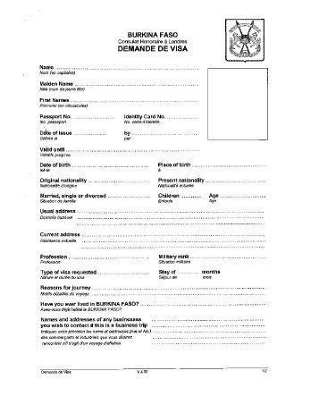 burkina faso visa application form 10 free magazines from shakariconnection