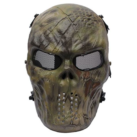 airsoft paintball full face skull mask protection outdoor