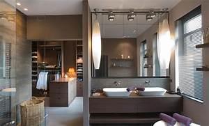 deco chambre salle de bain dressing With chambre avec salle de bain ouverte et dressing