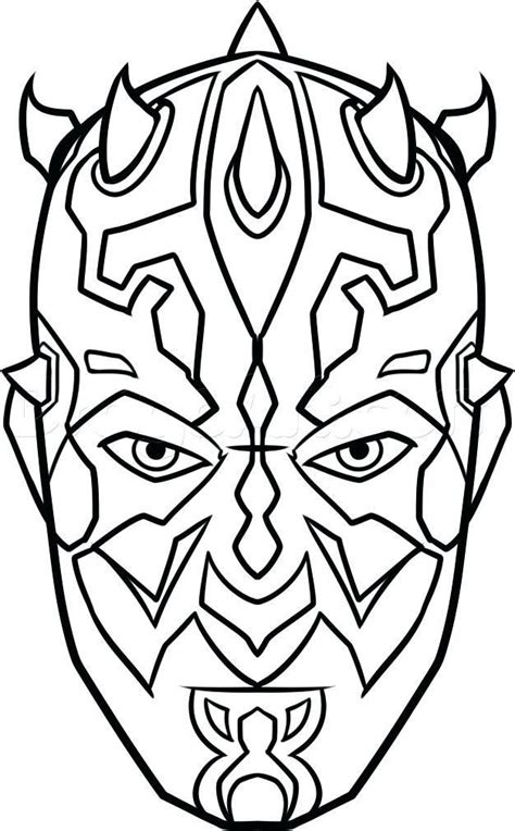 darth maul coloring maul coloring page awesome  coloring pages star wars characters