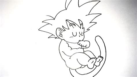 Dragon Ball: Cómo dibujar a Goku bebé a lápiz paso a paso