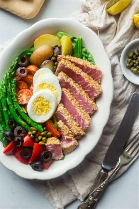 asian nicoise salad food faith fitness