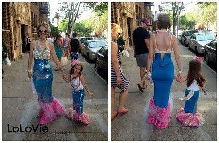 tutorial diy mermaid costumes  mom  daughter sewing