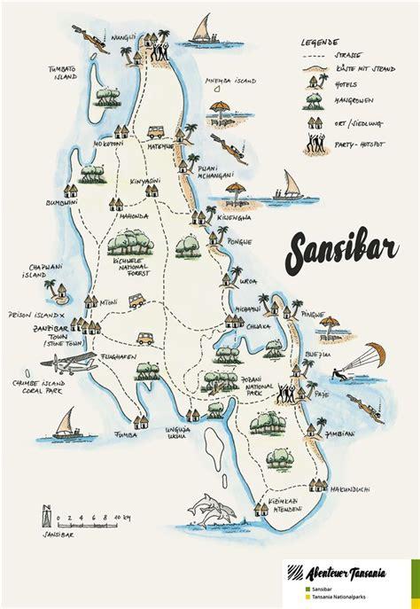 Karte Von Sansibar