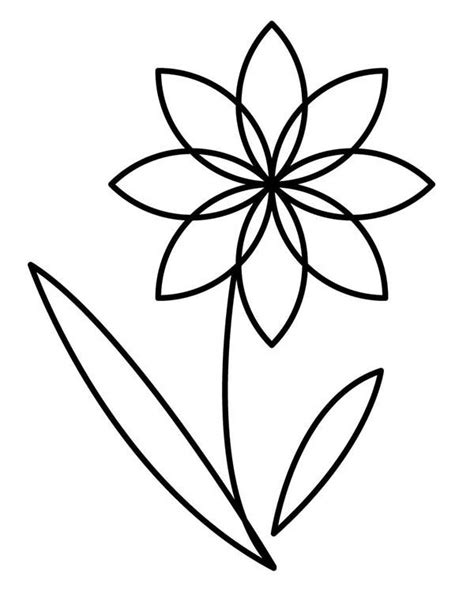outline pictures of flowers for colouring flower outline cliparts co