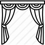 Curtains Clipart Stage Icon Window Drawing Theatre Theater Bedroom Curtain Svg Premium Getdrawings Buildings Clipground sketch template