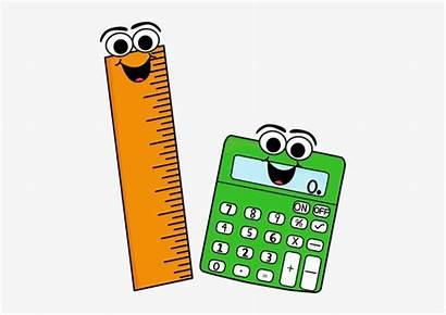 Ruler Clipart Calculator Clip Supplies Mathematics Chalkboard