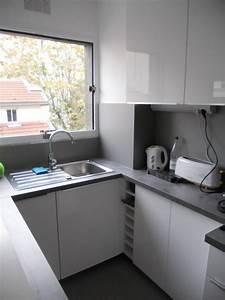 petite cuisine avec plan de travail original brodie With plan de travail pour petite cuisine