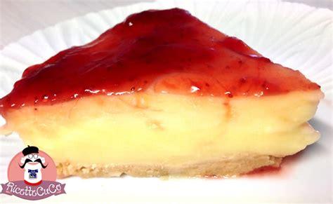 cheesecake budino con marmellata di fragole ricettecuco it