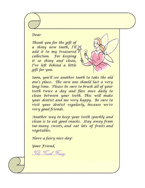 tooth fairy letter gplusnick
