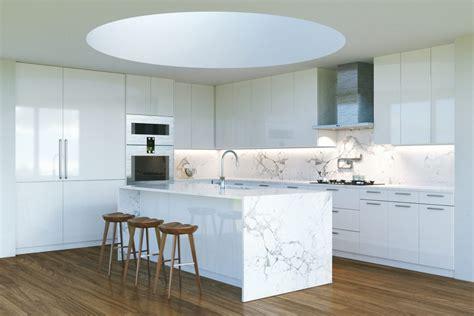 waterfall kitchen islands trending kitchen design