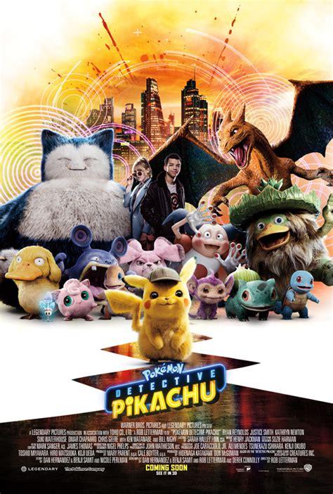 pokemon detective pikachu unveils  poster top  films