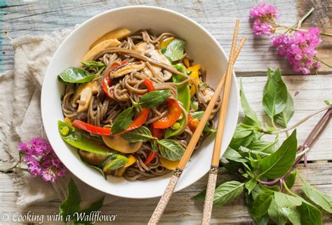 Mixed Vegetable Soba Noodle  Cooking With A Wallflower