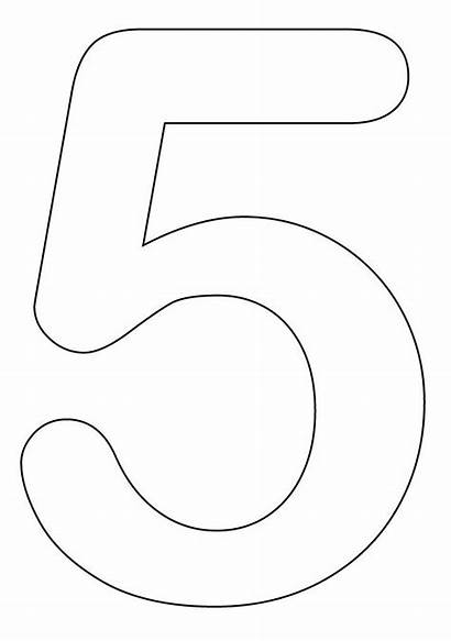 Number Coloring Pages Printable Numbers Preschool Clipart