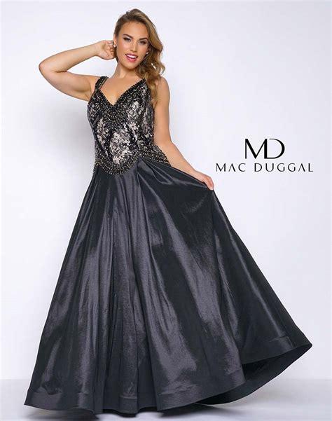 Mac Duggal Fabulouss Plus 77181F Black Taffeta Ball Gown ...