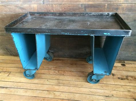 Factory Cart Of Steel With Wheels As End, Side Or Coffee