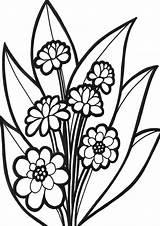 Flower Coloring Flowers Rain Easy Tulamama Colors Cloud sketch template