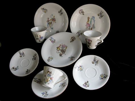 Art Deco Luncheon Dish Set/vintage Dishes/winterling