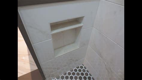 complete tile shower install part  making