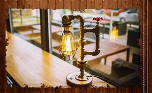 Dimmable Video Light Vintage Industrial Retro Water Pipe Style Table Desk Lamp