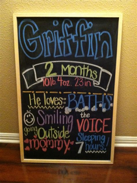 childs month  month chalkboard signs