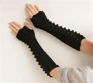 black long fingerless glovesknitted gloves fingerless by
