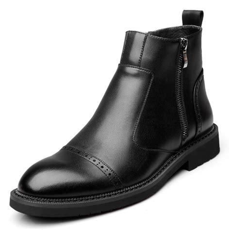 Martin Boots Men Genuine Leather Retro Short Ankle Chelsea