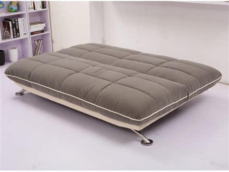 canapé clic clac confortable canapé clic clac en tissu gris ou chocolat glade