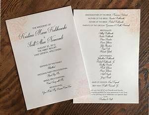 Wedding Programs  U2013 Erickson Design