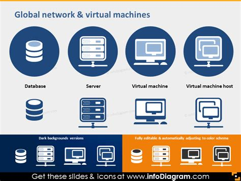 Network Server Diagram Icon by Great 24 Icons In 15 Slides Cloud Software Mobile And
