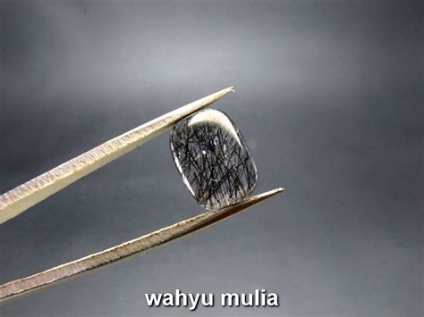 batu permata kecubung rambut warna hitam kode 746