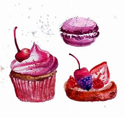 Watercolor Clipart Cupcake Transparent Macaron Clip Cake