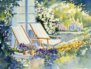 Garten Blumen Bilder : bild garten sommer blumen malerei von ildiko passarge bei kunstnet ~ Whattoseeinmadrid.com Haus und Dekorationen