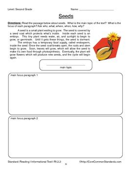ri 2 2 second grade common core worksheets activity and poster