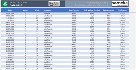 payroll template excel payroll calculator free excel template to calculate taxes and payments